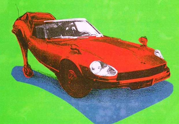 Tilby E type stiletto  media: silk screen 1989