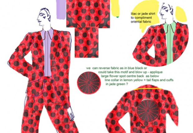 tilby design: spot pattern suit for theatre tour: July 2012