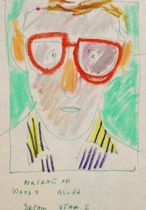 Anne Tilby Woody Allen chalk