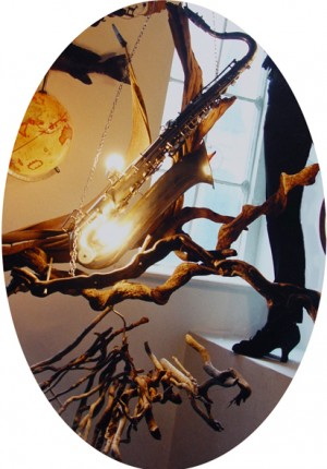 tilby saxaphone chandelier