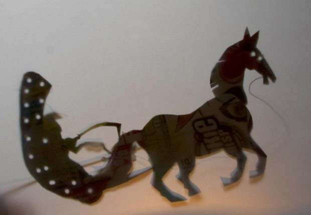 tilby animated shadow puppet chariot