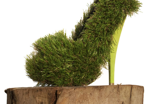 Wild Ting - fresh grass shoe by Anne Tilby  from the Tortured Soles collection