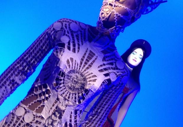 lace network dress