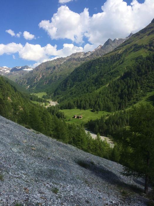 Stelvio - Landslide outside  cabin 2015