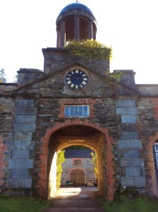the archway to the stables and coach houses