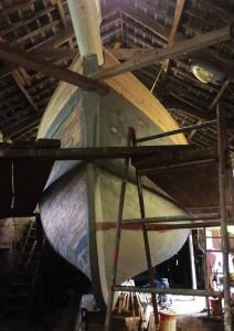 IIen Ketch in Hegarty's shed